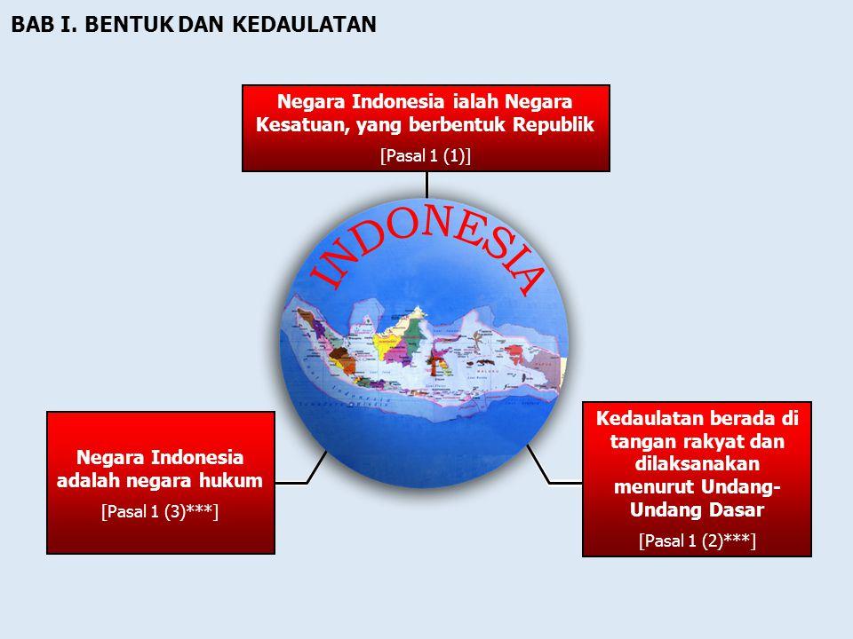 PROSES PERUBAHAN UUD NEGARA REPUBLIK INDONESIA TAHUN 1945 (1999 – 2002 ) Kekuasaan tertinggi di tangan MPR Kekuasaan yang sangat besar pada Presiden P