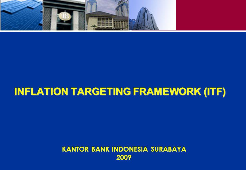 1 INFLATION TARGETING FRAMEWORK (ITF) KANTOR BANK INDONESIA SURABAYA 2009