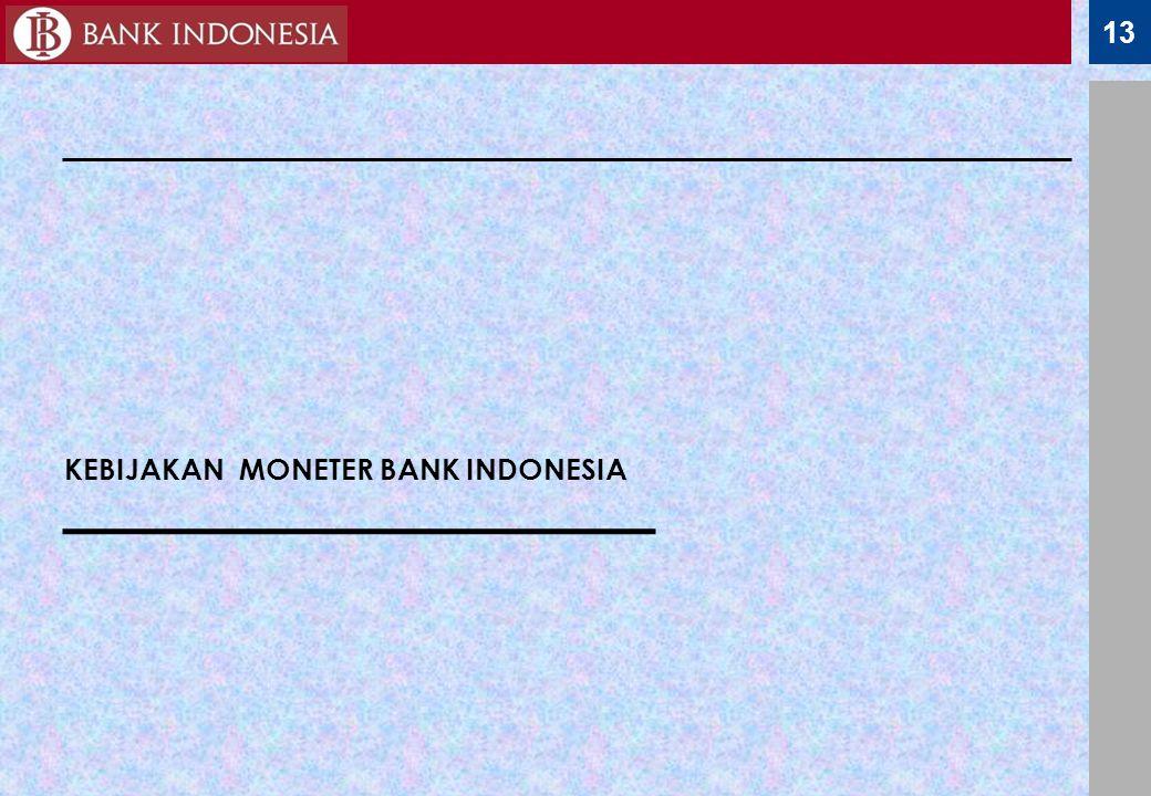 13 KEBIJAKAN MONETER BANK INDONESIA