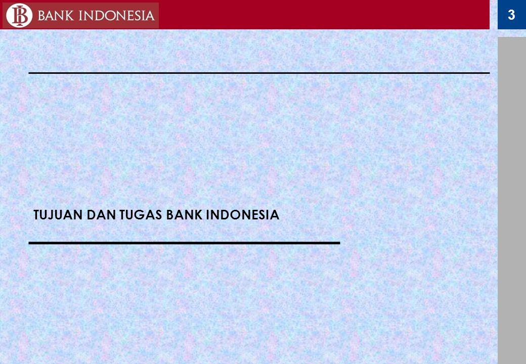 3 TUJUAN DAN TUGAS BANK INDONESIA