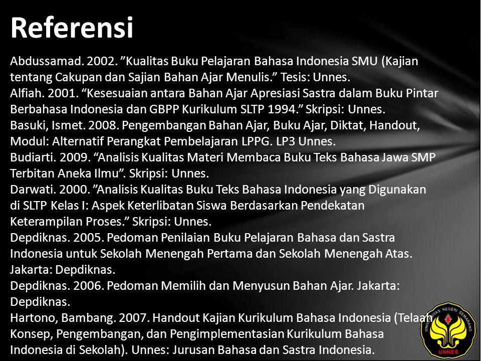 Referensi Abdussamad. 2002.