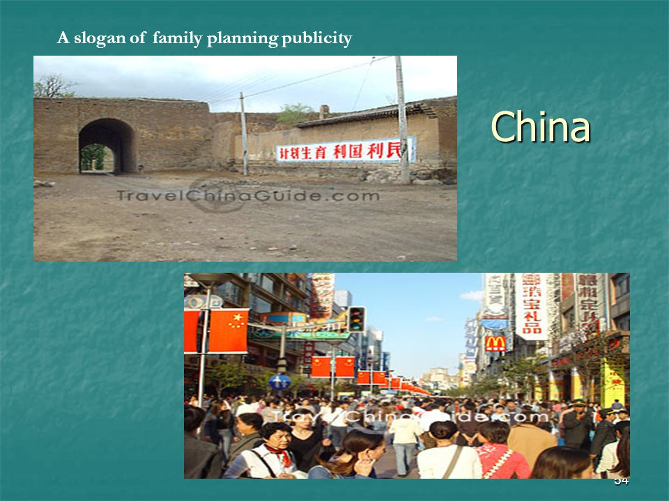 54 China A slogan of family planning publicity
