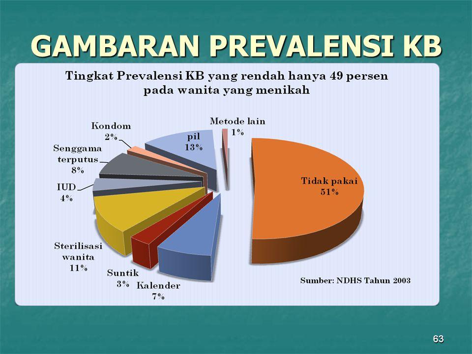 63 GAMBARAN PREVALENSI KB