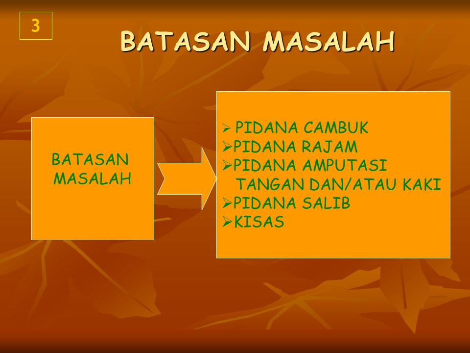 MASALAH POKOK Mengapa Konsep Pemidanaan dalam Islam Sulit diterima pemberlakuaannya di Negara Hukum Indonesia .