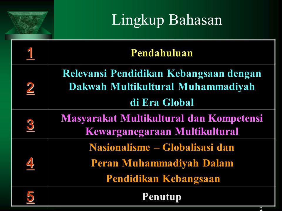 Muhadjir Effendy - 20093 Pendahuluan 64 tahun  Memasuki usia 64 tahun, bangsa Indonesia masih banyak menghadapi krisis multidimensi dan problem bangsa yang kompleks.