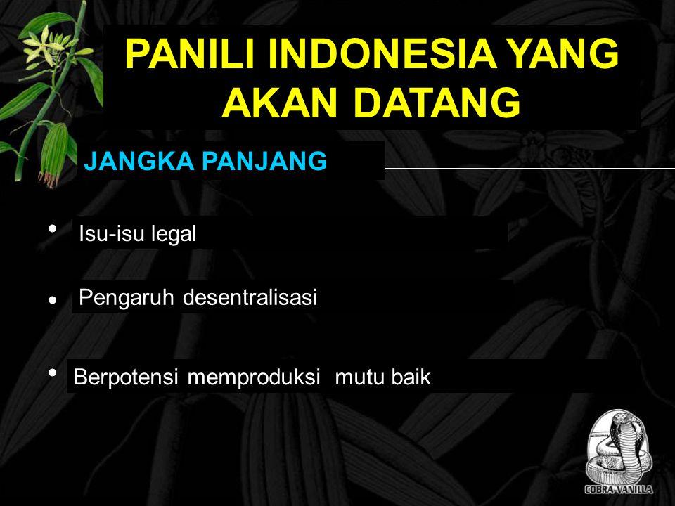 JANGKA PANJANG Isu-isu legal Pengaruh desentralisasi Berpotensi memproduksi mutu baik PANILI INDONESIA YANG AKAN DATANG