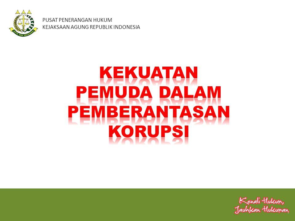 PUSAT PENERANGAN HUKUM KEJAKSAAN AGUNG REPUBLIK INDONESIA Penyimpanan Perilaku, nilai-nilai/ Moral Penyimpanan Perilaku, nilai-nilai/ Moral Kelemahan Sistem KORUPSI NIAT KESEMPATAN