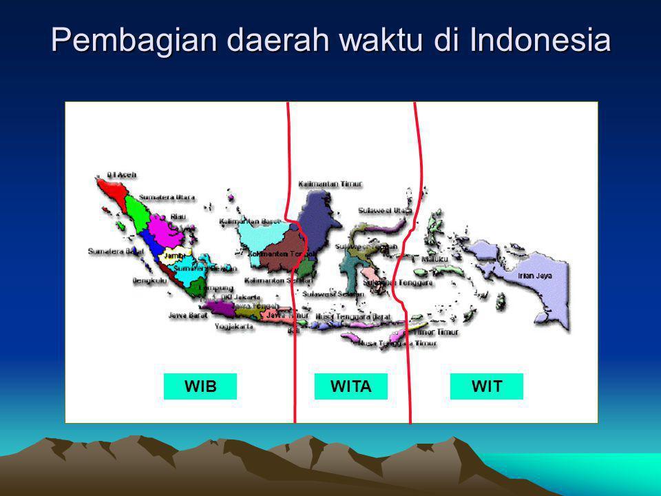 Pembagian daerah waktu di Indonesia WIBWITAWIT