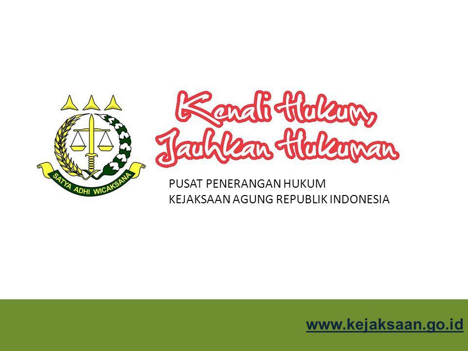 PUSAT PENERANGAN HUKUM KEJAKSAAN AGUNG REPUBLIK INDONESIA KEJAKSAAN REPUBLIK INDONESIA KEJAKSAAN : Lembaga pemerintah yang melaksanakan kekuasaan negara di bidang penuntutan dan kewenangan lain berdasarkan ketentuan perundang-undangan Kejaksaan dipimpin oleh Jaksa Agung yang bertanggung jawab langsung kepada Presiden.