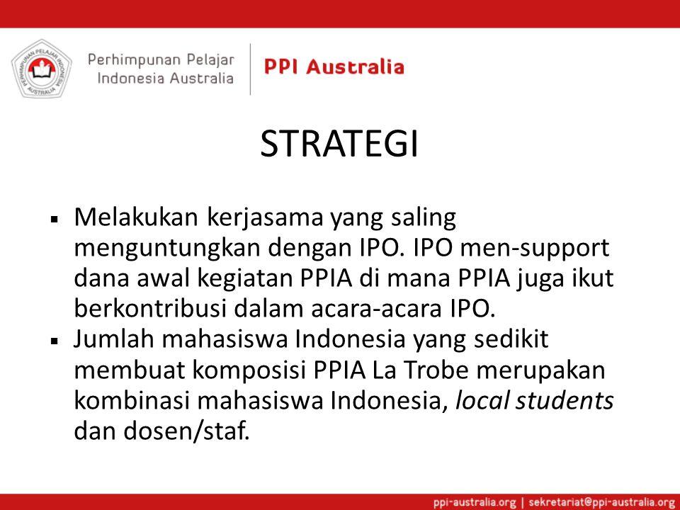 STRATEGI  Melakukan kerjasama yang saling menguntungkan dengan IPO.