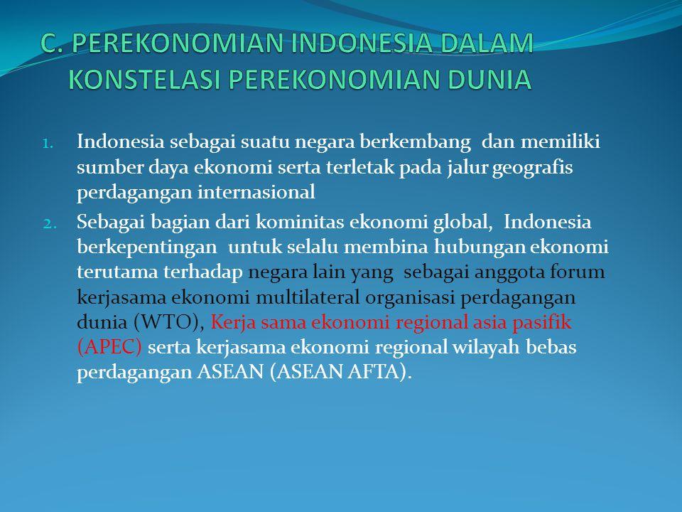 4. Fakta menunjukkan perekonomian Indonesia mewarisi dualistik sifat perekonomiannya yaitu a.