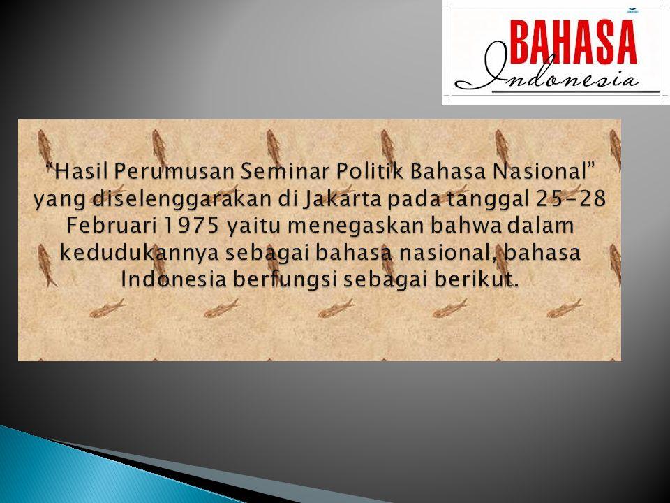 1) Lambang Kebanggaan Nasional.
