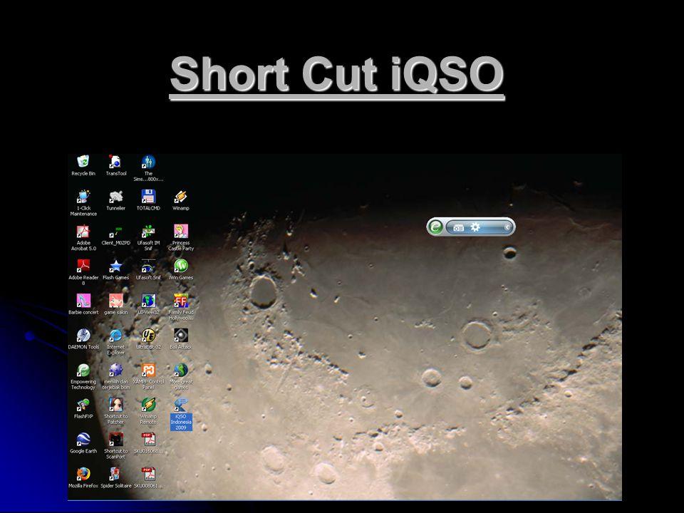 Inisialisasi iQSO Pengisian Callsign Anda, sebagai identitas stasiun