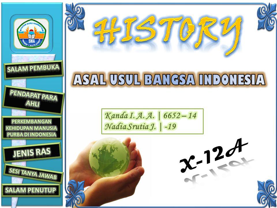 Kedua, penduduk yang menempati daerah kepulauan Indonesia diperkirakan berasal dari daratan Asia. Walaupun demikian, terdapat pula pendapat dari beber