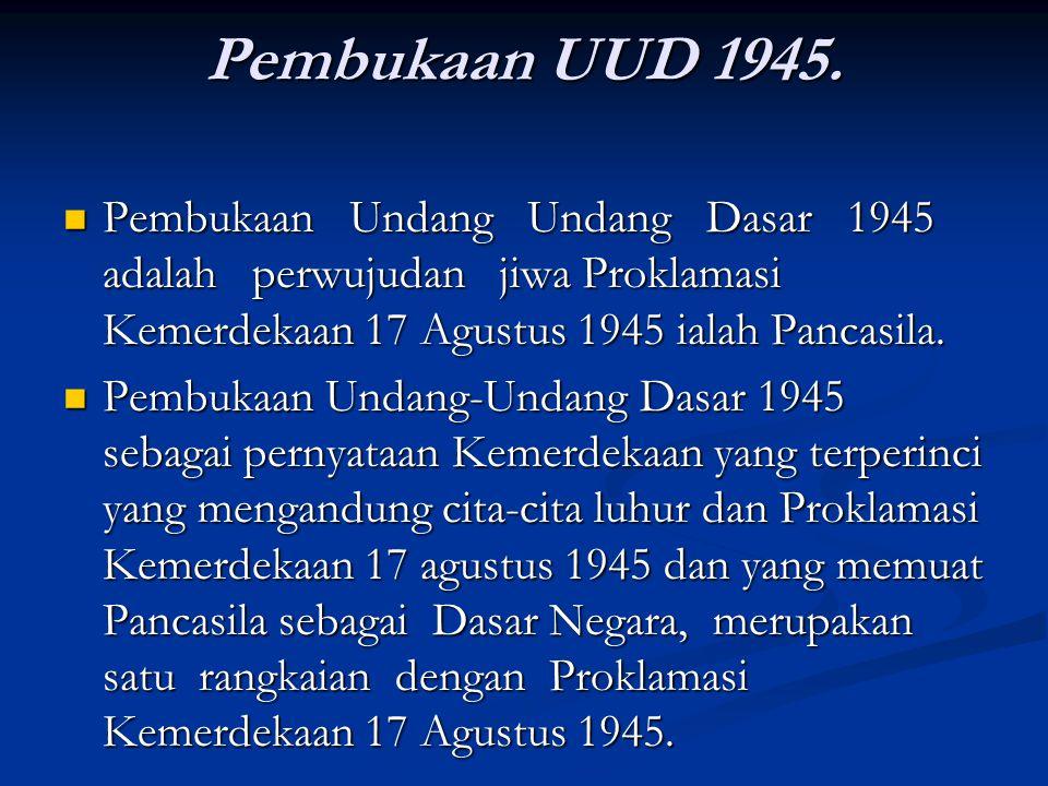 Pembukaan UUD 1945.