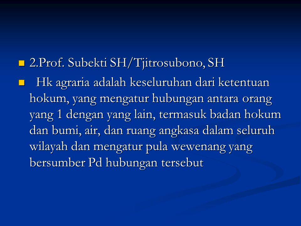 2.Prof. Subekti SH/Tjitrosubono, SH 2.Prof.