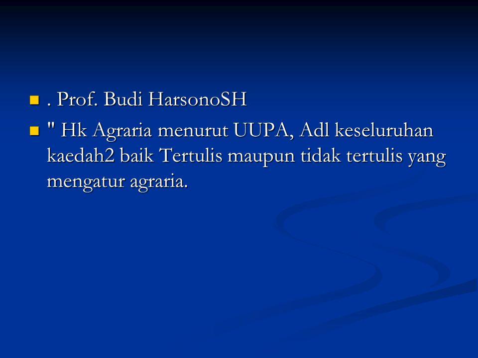 Prof. Budi HarsonoSH. Prof.