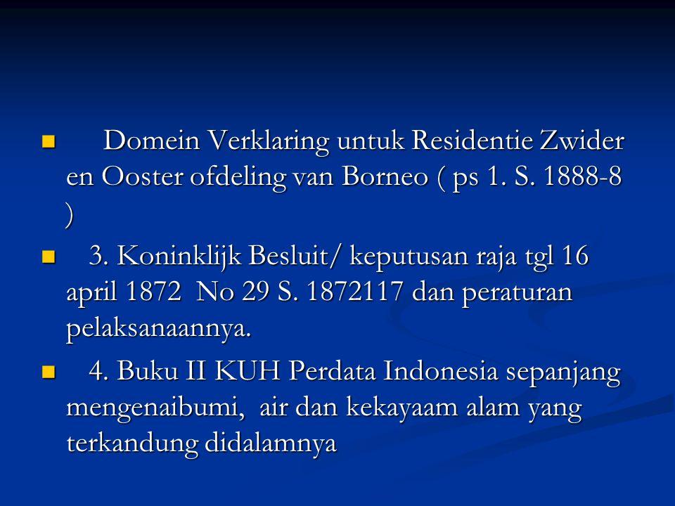 Domein Verklaring untuk Residentie Zwider en Ooster ofdeling van Borneo ( ps 1.