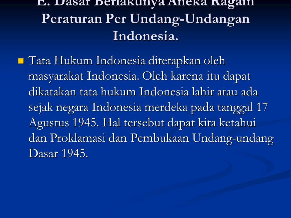 Pasal 2 TAP MPR NO III/MPR/2000: Pasal 2 TAP MPR NO III/MPR/2000: Tata urutan peraturan perundang-undangan Republik Indonesia adalah: Tata urutan peraturan perundang-undangan Republik Indonesia adalah: Undang-Undang Dasar 1945; Undang-Undang Dasar 1945; Ketetapan Majelis Permusyawaratan Rakyat Indonesia; Ketetapan Majelis Permusyawaratan Rakyat Indonesia; Undang-undang; Undang-undang; Peraturan Pemerintah Pengganti Undang- undang; Peraturan Pemerintah Pengganti Undang- undang; Peraturan Pemerintah; Peraturan Pemerintah; Keputusan Presiden; Keputusan Presiden; Peraturan Daerah.