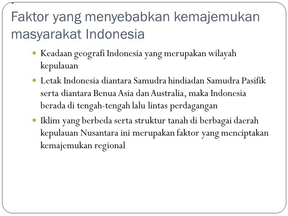 "makalah sosial: ""kemajemukan masyarakat indonesia"" MAKALAH September 12, 2011 Comments: 2 BAB I PENDAHULUAN 1.1 Latar Belakang Masalah Pernahkah anda"