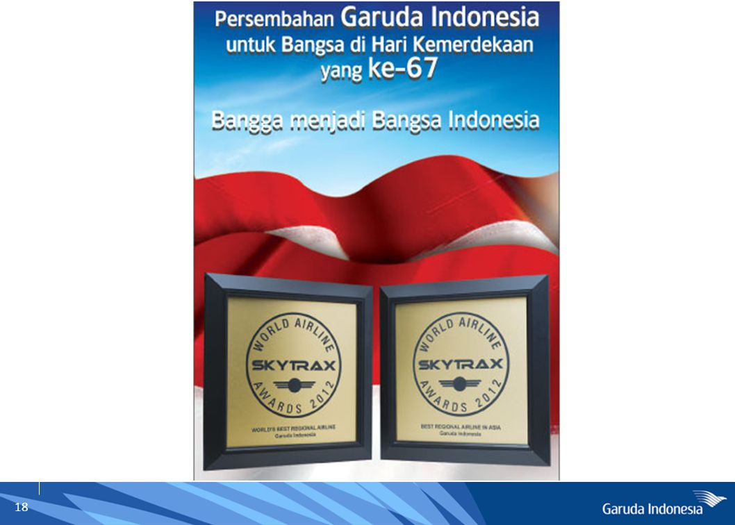 19 Garuda Indonesia  Public Company - GIAA  FSC – Full Service Carrier  The Airline of Indonesia  Domestic & International Services  4-Stars Airlines  GFF – Garuda Frequent Flyer  Cargo Services  Citilink / GMF Aero Asia / Aerowisata / ABACUS / ASYST
