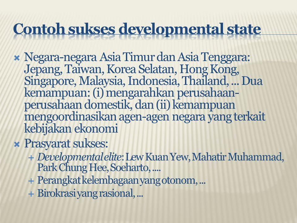  Negara-negara Asia Timur dan Asia Tenggara: Jepang, Taiwan, Korea Selatan, Hong Kong, Singapore, Malaysia, Indonesia, Thailand,... Dua kemampuan: (i