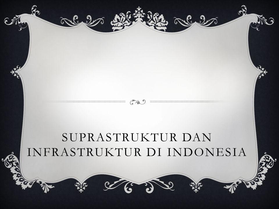 SUPRASTRUKTUR DAN INFRASTRUKTUR DI INDONESIA