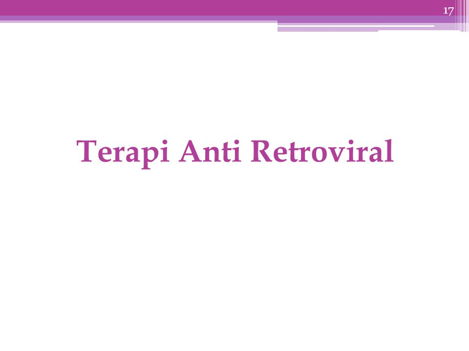 Terapi Anti Retroviral 17