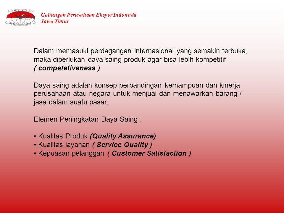 Perkembangan Nilai Ekspor Non Migas Jawa Timur 2011 Berdasarkan 10 Besar Komoditi Utama Sumber : BPS diolah Gabungan Perusahaan Ekspor Indonesia Jawa Timur