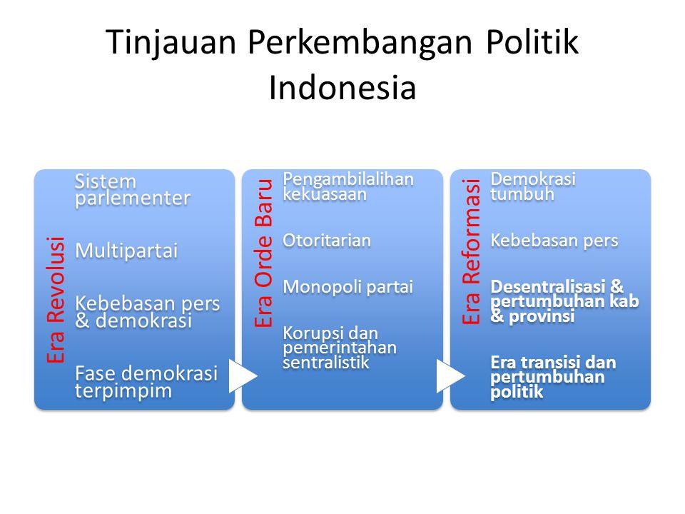 Perkembangan Ekonomi Indonesia Negara berkembang dengan status middle- income Pertumbuhan ekonomi yang kuat Kekuatan ekonomi ke-4 di Asia Krisis ekonomi – 1998 – 2008 Kesenjangan ekonomi, 13-24% adalah populasi miskin