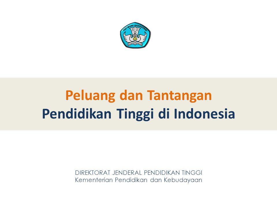 Peluang dan Tantangan Pendidikan Tinggi di Indonesia DIREKTORAT JENDERAL PENDIDIKAN TINGGI Kementerian Pendidikan dan Kebudayaan 2 2