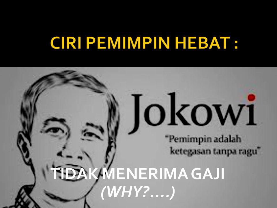 TIDAK MENERIMA GAJI (WHY?....)