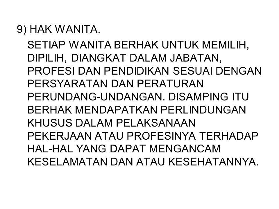 9) HAK WANITA.