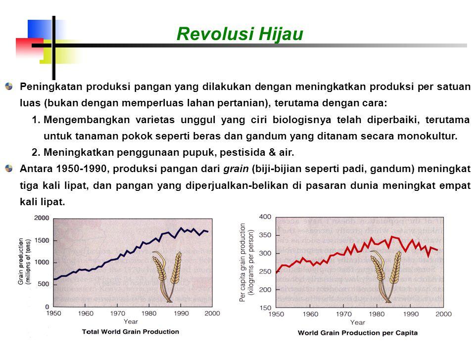 Tetapi laju produksi kini cenderung konstan, sementara laju produksi per kapita (per orang) mulai menurun.