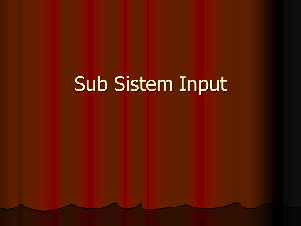 Sub Sistem Input