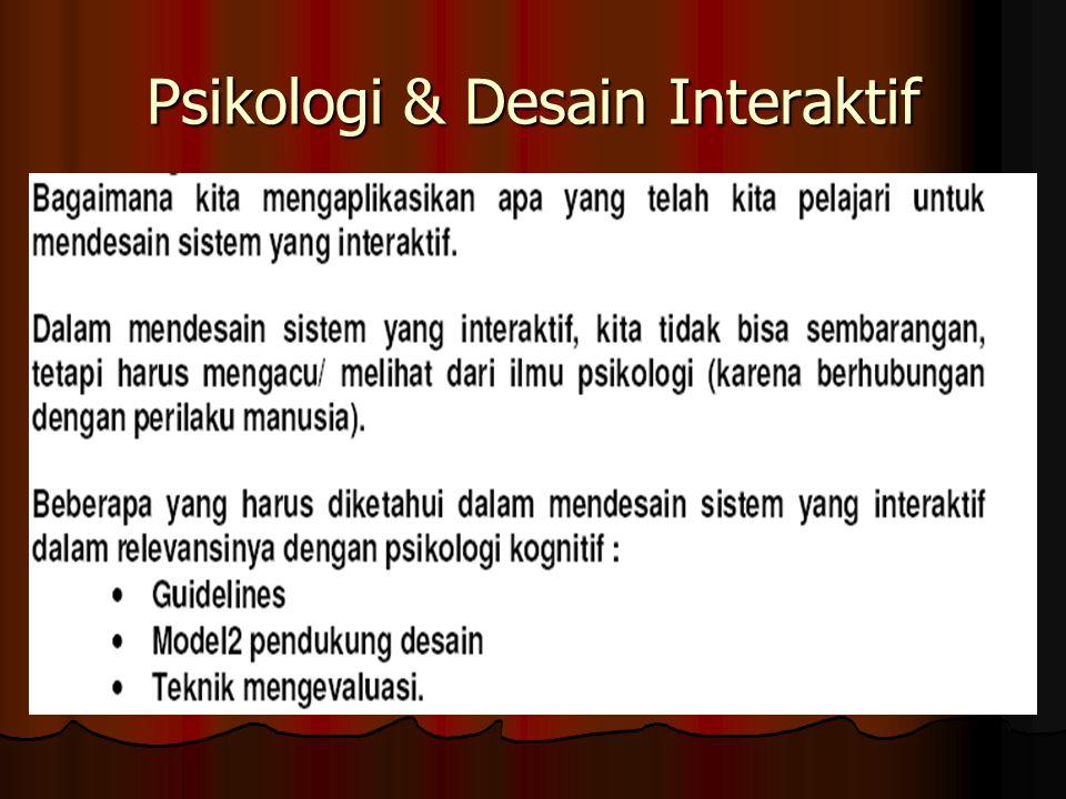 Psikologi & Desain Interaktif