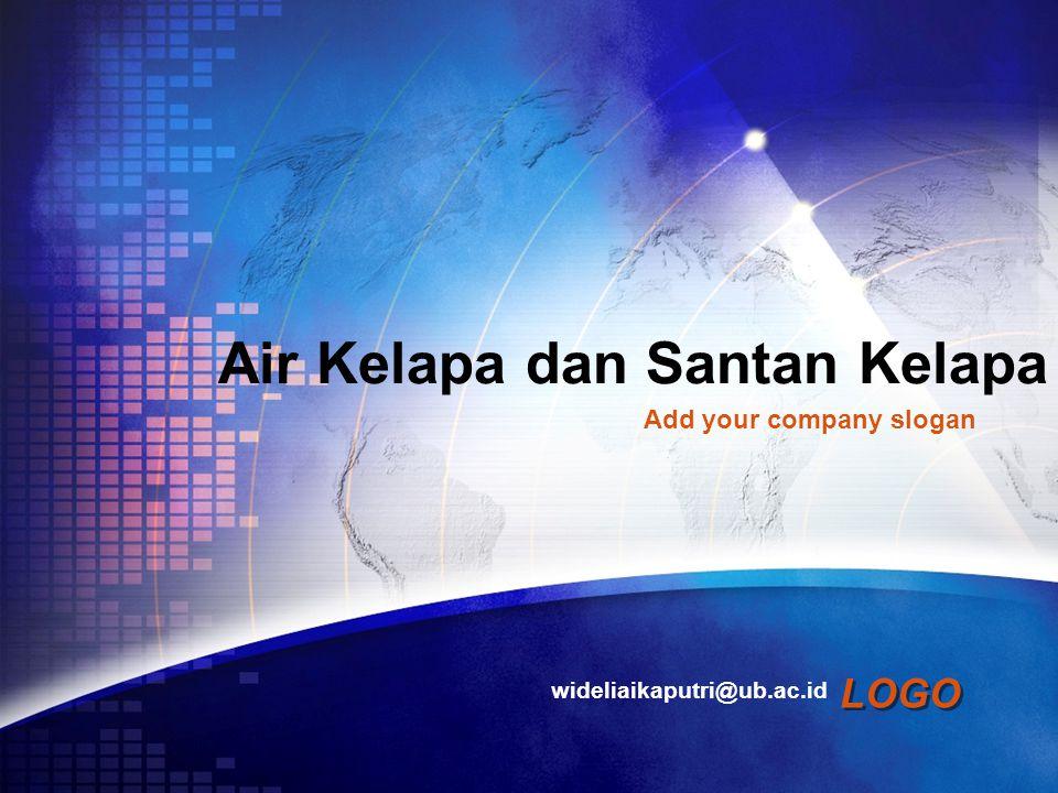 LOGO Air Kelapa dan Santan Kelapa wideliaikaputri@ub.ac.id Add your company slogan