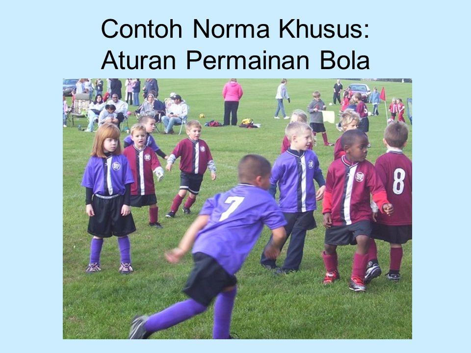 Contoh Norma Khusus: Aturan Permainan Bola