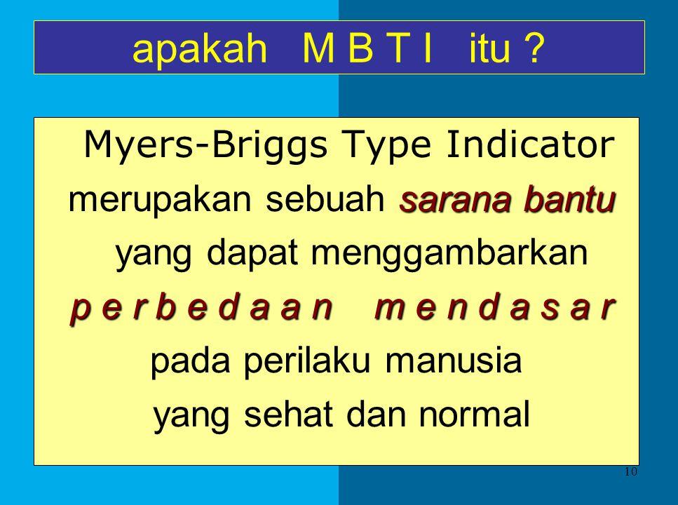 Tes Kepribadian tes inventori/objektif yang mengandalkan kejujuran pengisinya - MBTI ( Myers-Briggs Type Indicator) - DISC (dominance, influence, stea