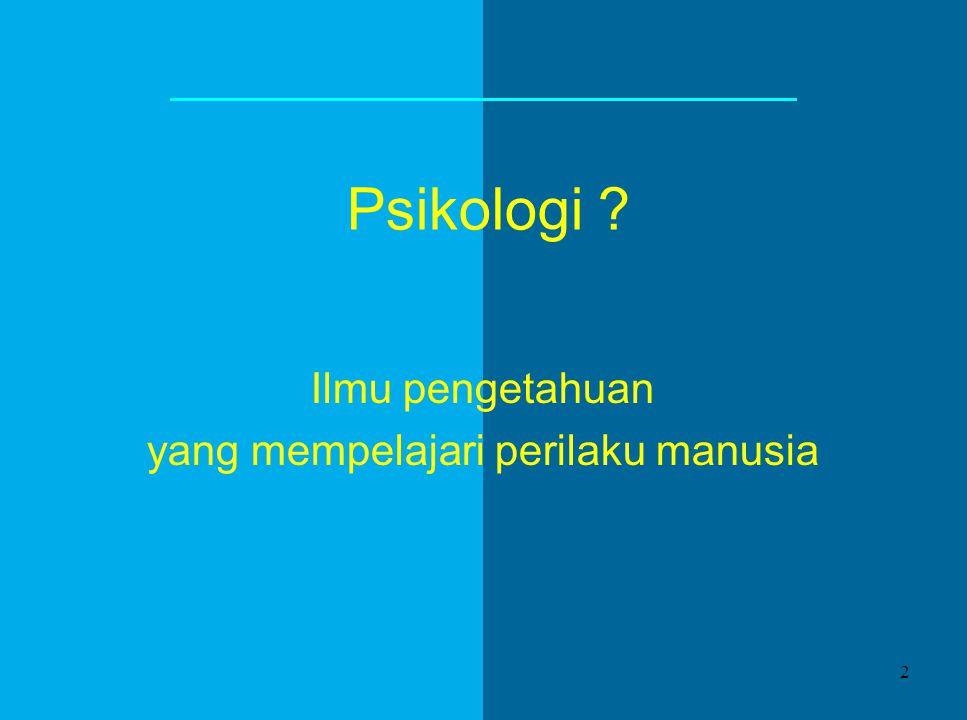 Psikologi Manusia disajikan oleh Theresia Ratih Sawitridjati Komisi Kateketik Keuskupan Bogor 1