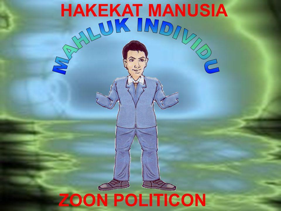 ZOON POLITICON HAKEKAT MANUSIA