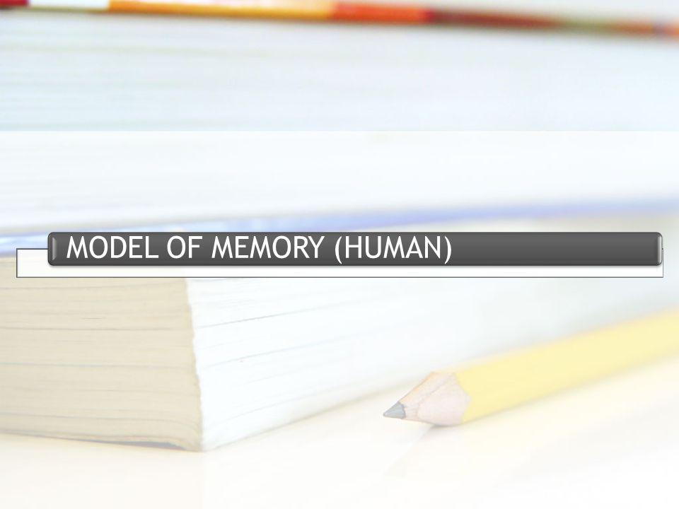 MODEL OF MEMORY (HUMAN)