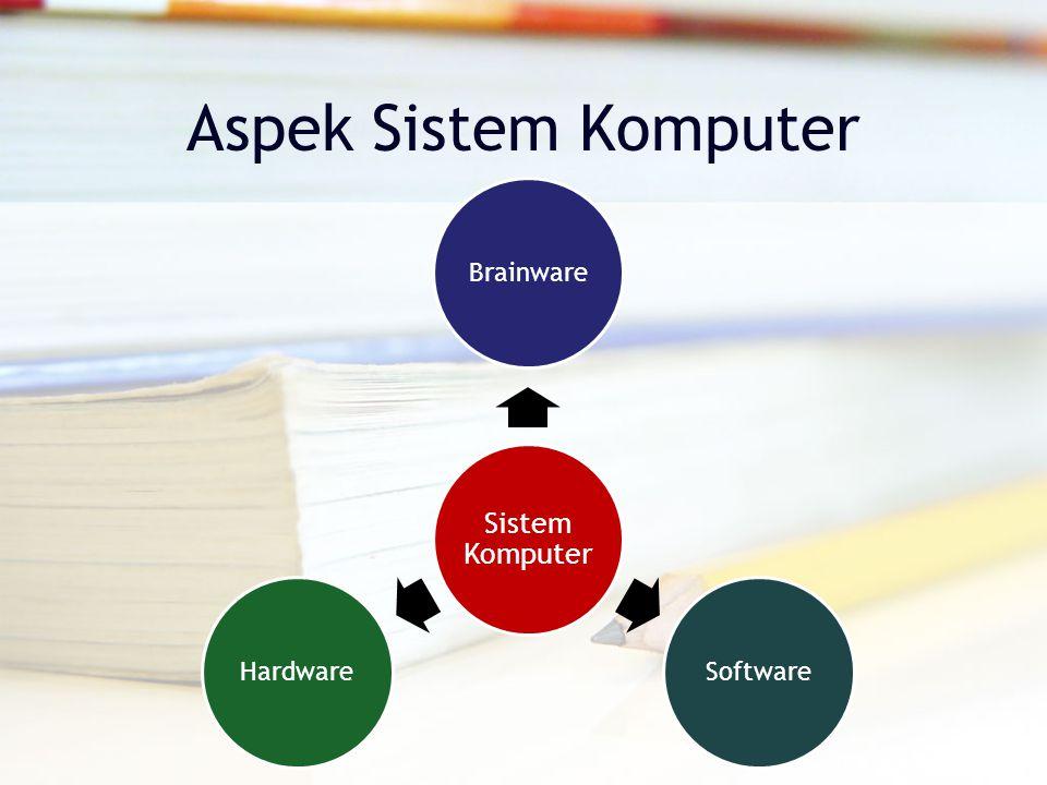 Aspek Sistem Komputer Sistem Komputer BrainwareSoftwareHardware