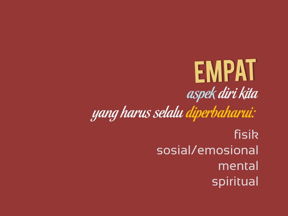 aspek diri kita fisik sosial/emosional yang harus selalu diperbaharui: mental spiritual empat