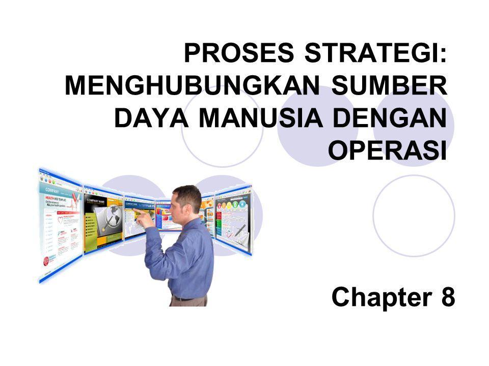 PROSES STRATEGI: MENGHUBUNGKAN SUMBER DAYA MANUSIA DENGAN OPERASI Chapter 8