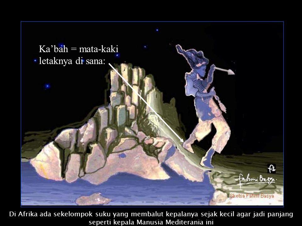 Saya terkesan dengan nama ka'bah yang berarti mata-kaki. Lalu dari nama itu saya menemukan sketsa sebagai berikut : Prakata. Tahun 1994 saya ke haji.