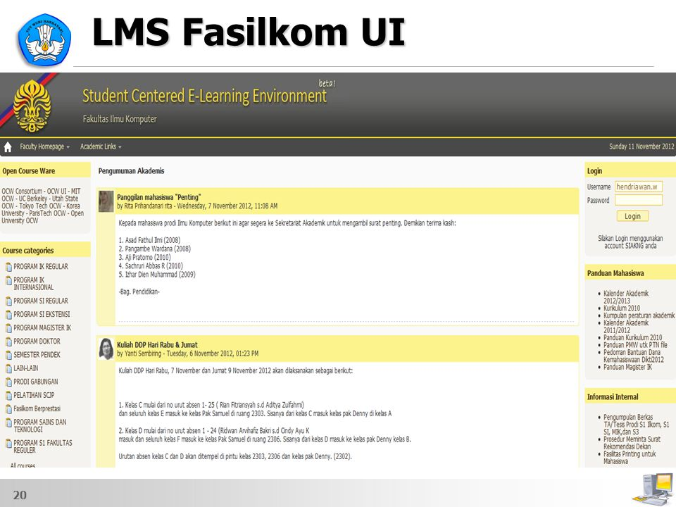 LMS Fasilkom UI 20