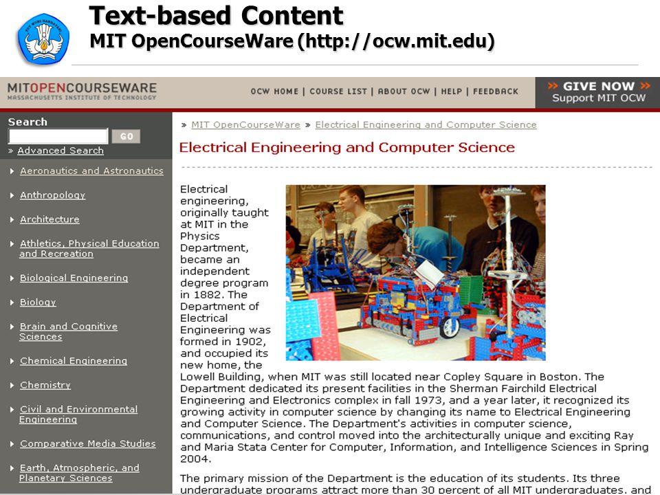 Text-based Content MIT OpenCourseWare (http://ocw.mit.edu) 22