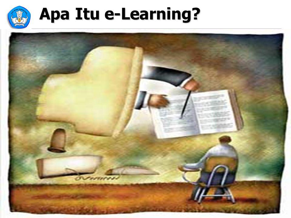 5 Apa Itu eLearning -1- Suatu jenis belajar mengajar yang memungkinkan tersampaikannya bahan ajar ke siswa dengan menggunakan media Internet, Intranet atau media jaringan komputer lain.
