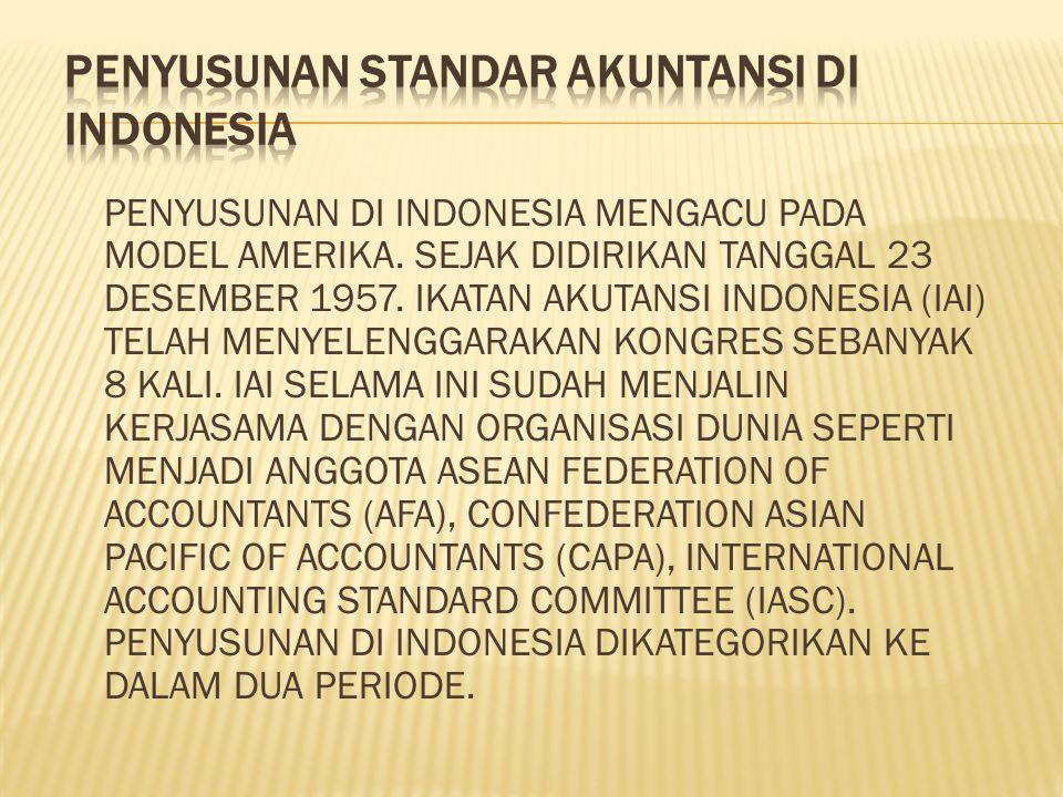 PENYUSUNAN DI INDONESIA MENGACU PADA MODEL AMERIKA.